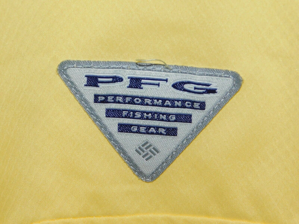 Columbia Men's Omni-shade Performance Fishing Gear (PFG) Shirt Button-Front Yel