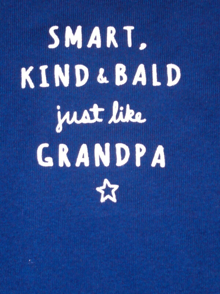 "Carter's Baby Boy Bodysuit ""Smart, Kind and Bald Just Like Grandpa"" Collectible"