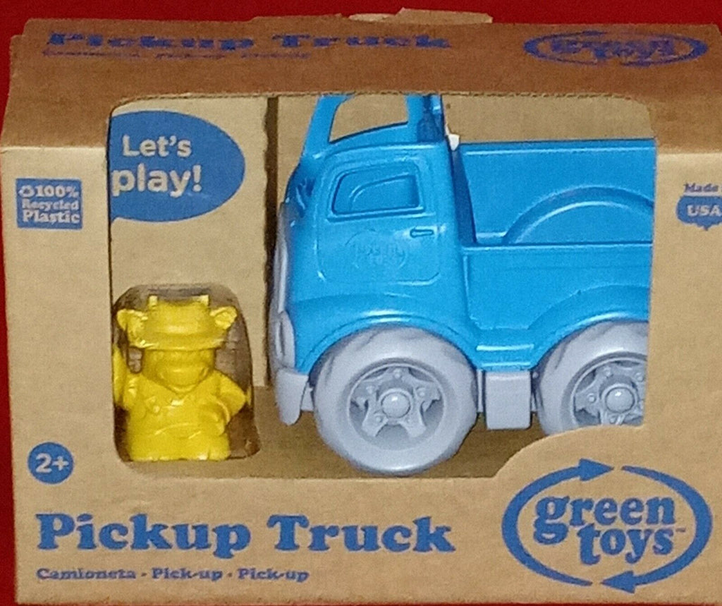 Green Toys Pickup Truck /Character 100% Recycled Plastic Ages 2+ Dishwasher Safe