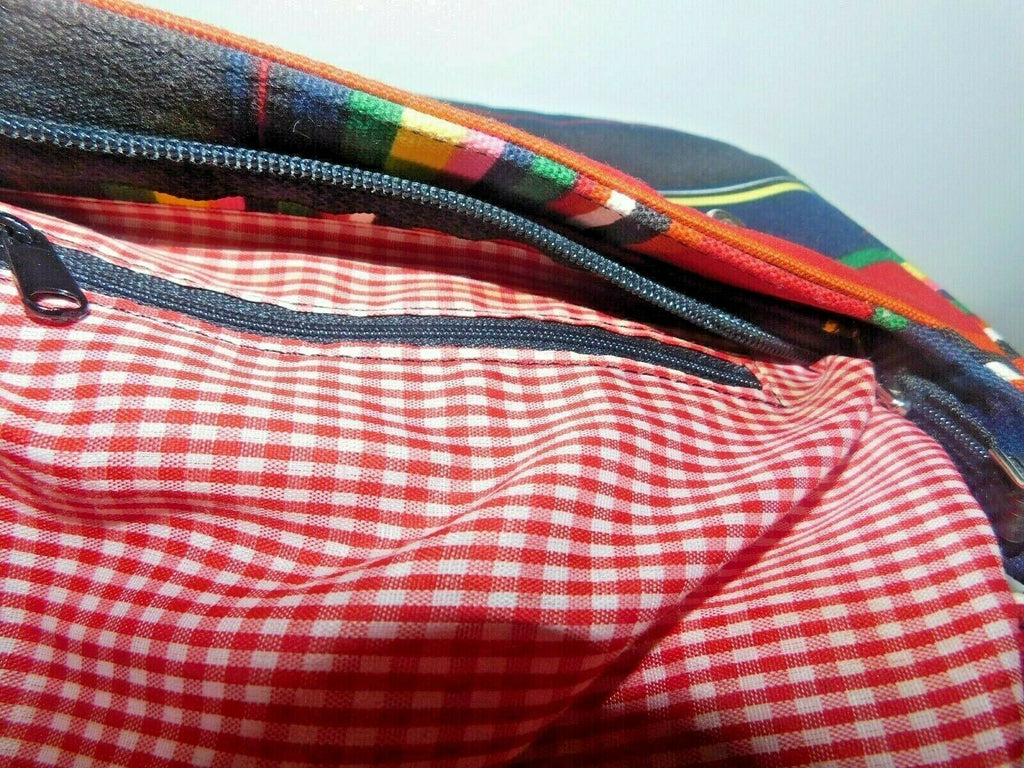 Cute Multi-colored Stripe Small Shoulder Bag Women Pre-owned