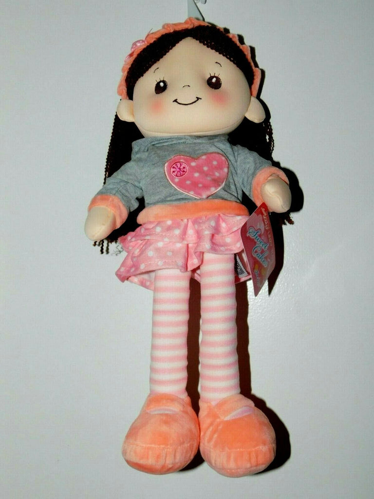 "Linzy Toys Sweet Cakes Jane 16"" Rag Doll Plush Doll 3+ Years Heart Shaped Hoodie"