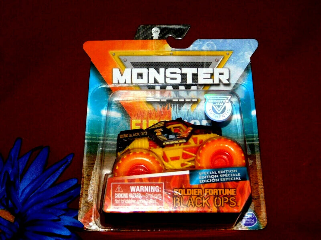 Monster Jam Soldier Fortune Black Ops Spin Master Fire & Ice Special Edition 3+