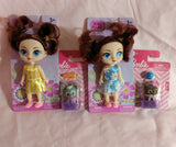 Mini Dolls & Animal Friends - 4 Sealed Packs New Assorted