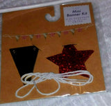 Mini Banner Kit Glitter Star 10 Pc Pennants 24 in Twine Party Memories