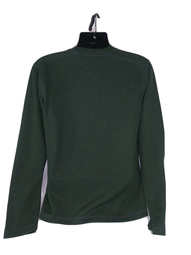 Washed Stoned & Beaten Men's Ribbed Knit Long Sleeve T-Shirt Medium Green