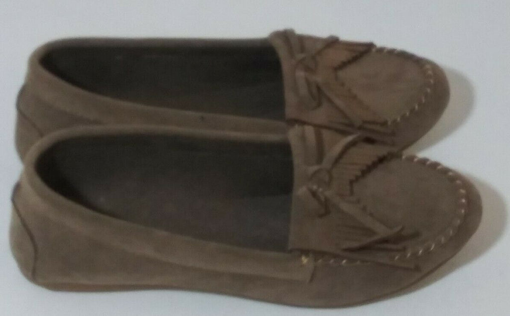 Shoes Of Soul Women's Fringe Slip-on Loafers Suede Moccasin Flat Shoes US-6 BRWN