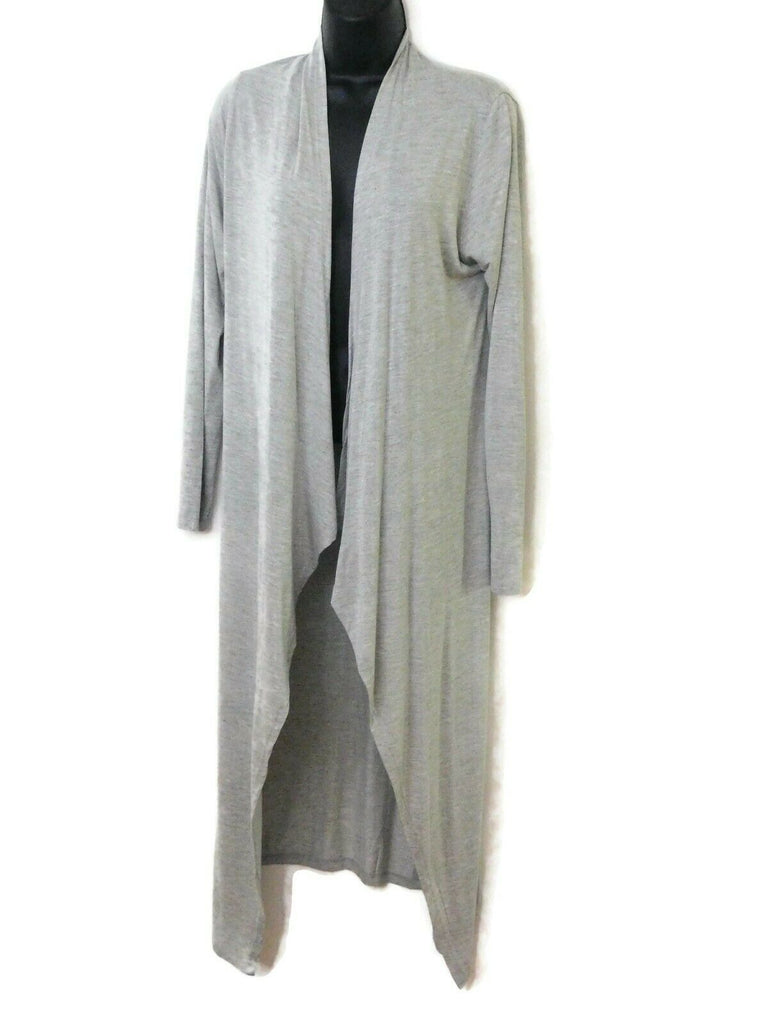 MadRAG Long Long Sleeve Sweater Large Gray Coat Sweater Cover-Up