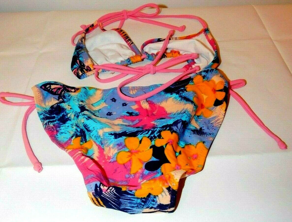 ICHI Women Tropical Bikini Set  Side Tie Swimwear Swimsuit Small