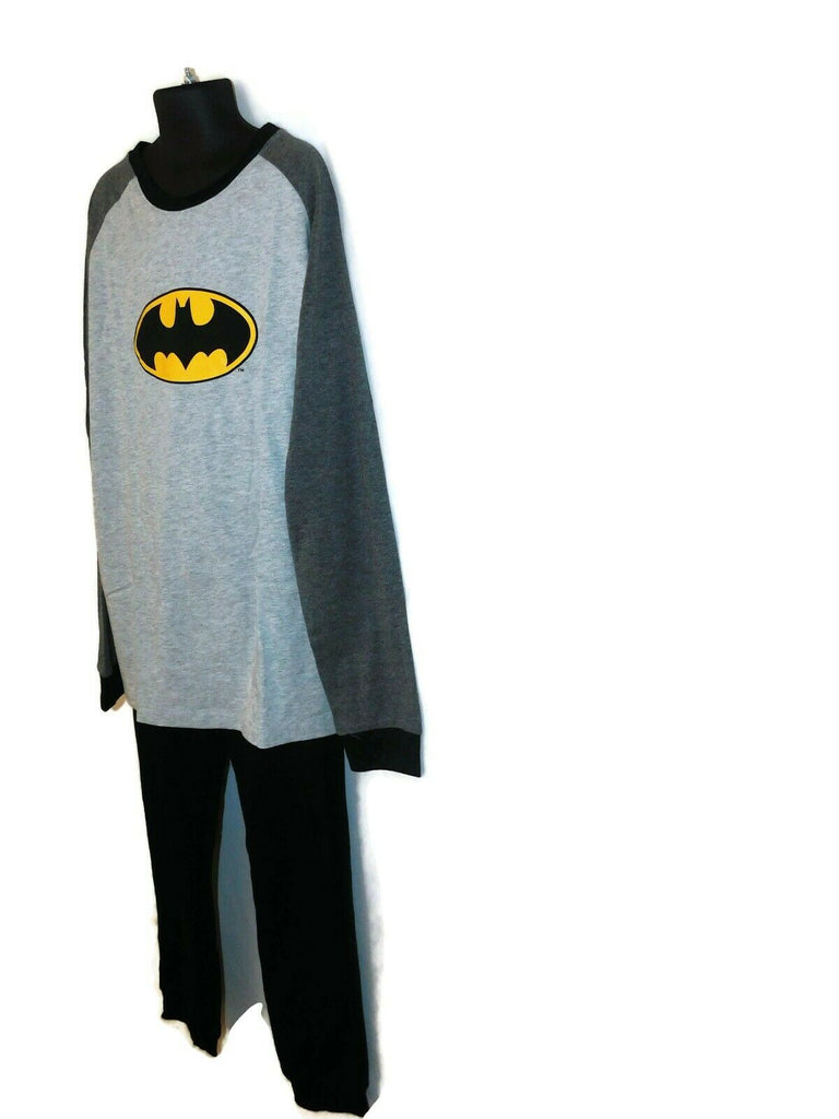 Boys' 2 Piece Long Sleeve Bat Pajamas Nightwear 10-11 Years Gray Lounge Wear