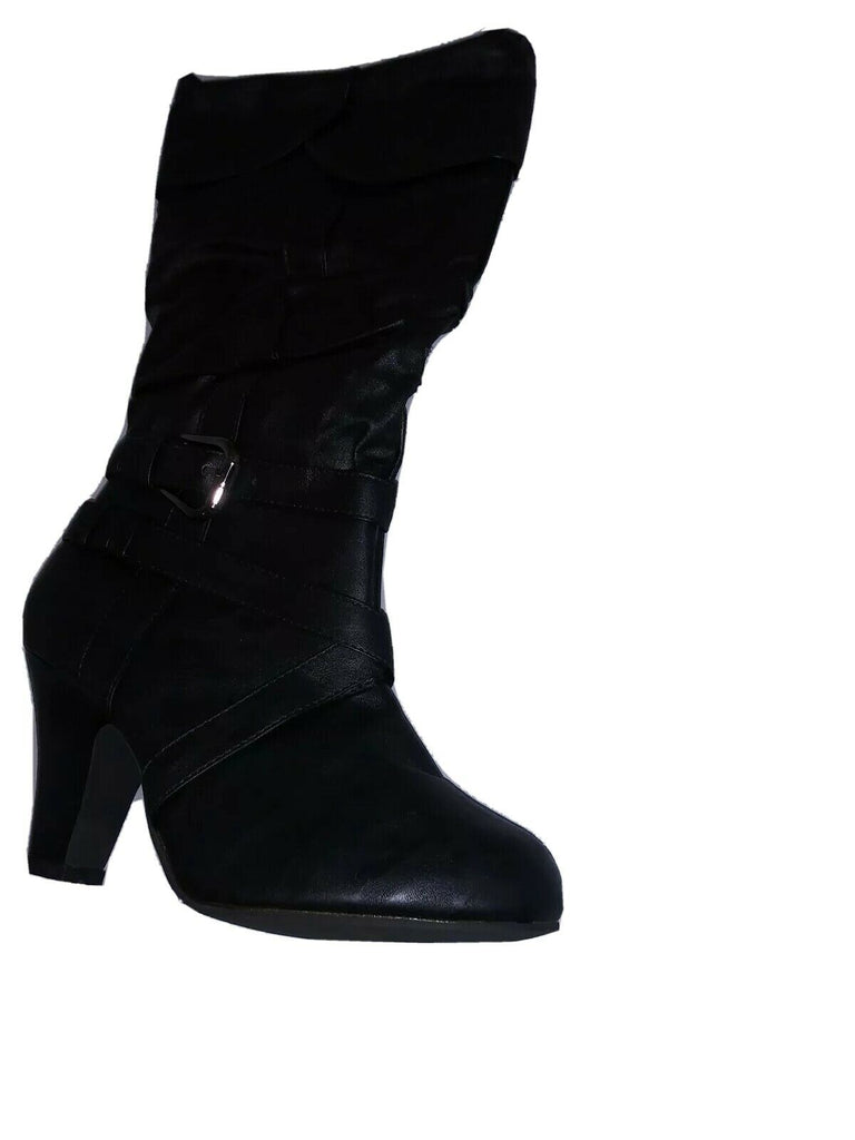 Rue 21 Etc! Women's Knee High Buckled High Heel Boots Size US- 7 Black