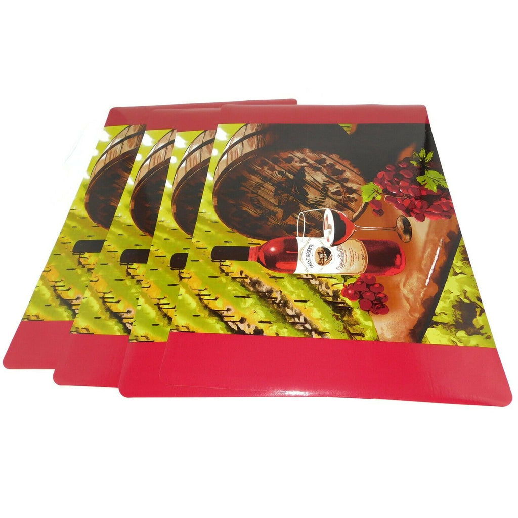 "4 x Home Collection WINE Theme Placemats 12"" x 18"" Easy Clean"