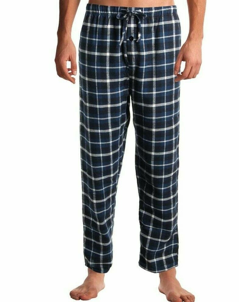 Lot of 2 Rugged Frontier Men's Flannel Plaid Sleep Lounge Bottoms Pajama Pants L