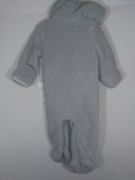 Cloud Island Infant Hooded Jumpsuit Bodysuit Romper Outfit 0-3 Months Gray - STEPSHEY