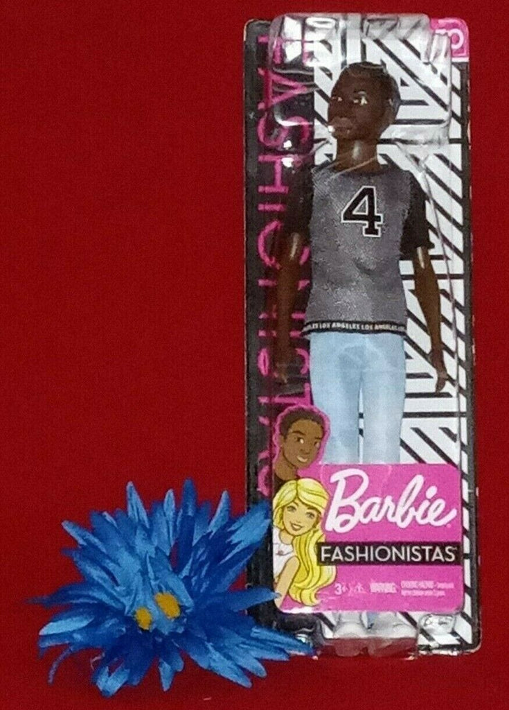 Barbie Fashionistas Ken Doll #130 Jersey Shirt Number 4 Ages 3+