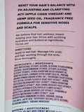 Conditioner Hemp & ACV Balancing Fragrance Free Hair Reset 8 Fl Oz Cruelty Free