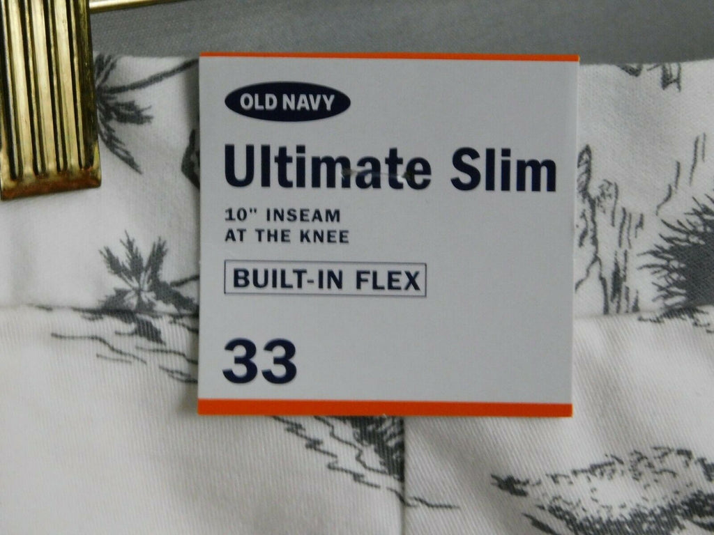 Old Navy Ultimate Slim Built In Flex Scenic Island Shorts Size 32/33 Men's