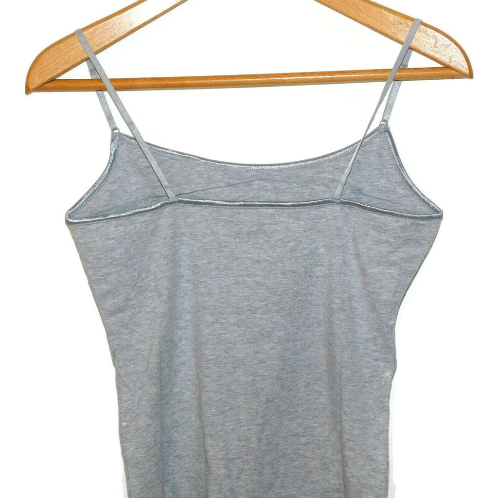 Ambience Women's Camisole Layering Casual Plain Black/Gray Tank Top Large