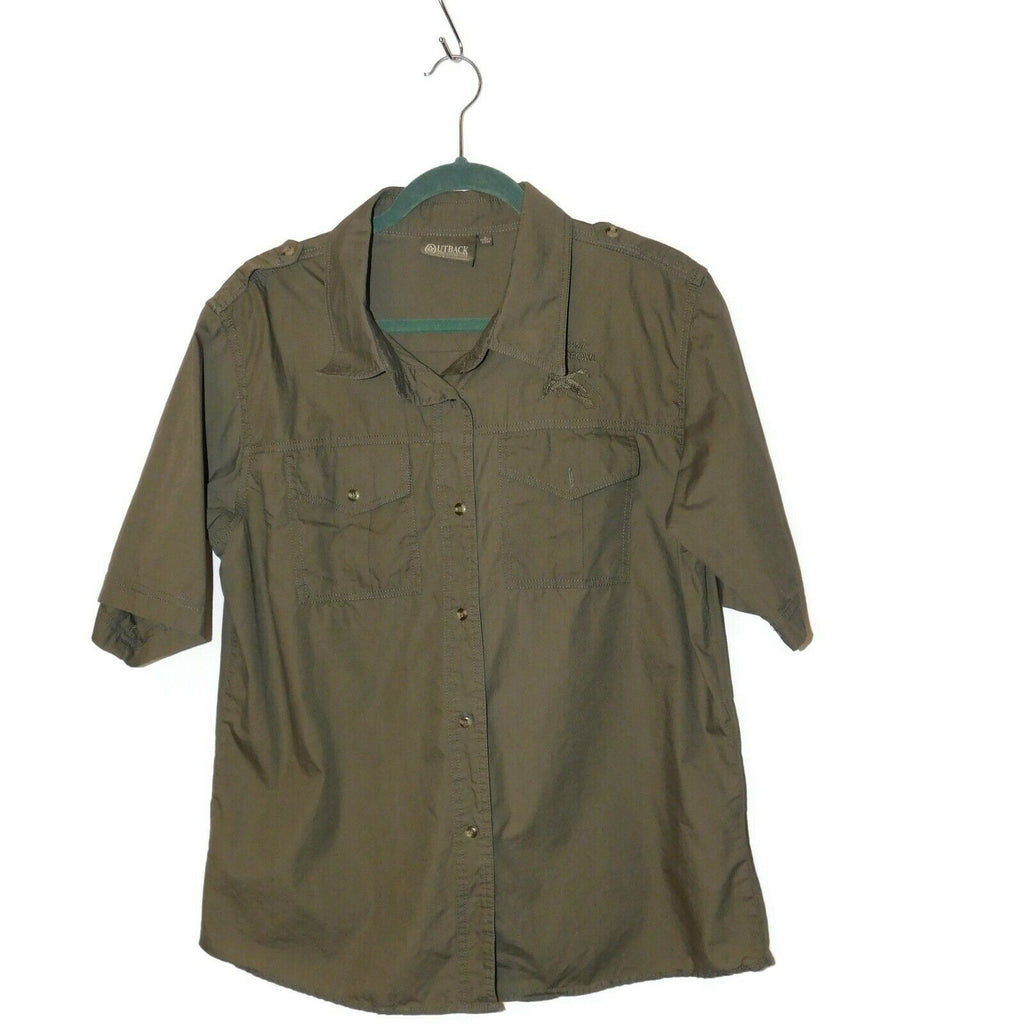 OUTBACK Trading Company Ltd California Waterfowl Women's Short Sleeve Shirt LRGE