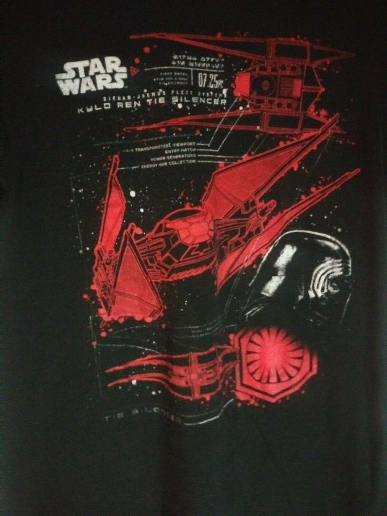 Star Wars Kylo Ren Tie Silencer T-shirt Men's First Order Pre-owned