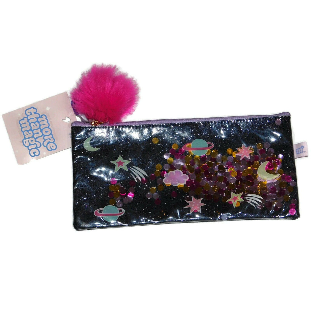 Pencil Pouch Glitter Galaxy By More Than Magic WITH/ Removable Pom Pom