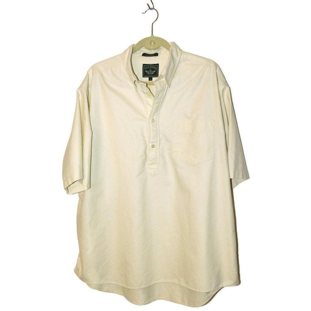 Dockers Authentics Men's Pullover Partial Button Front Short Sleeve Shirt  Large