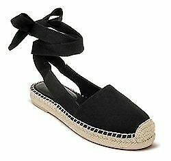 Rampage Betty Espadrille Flats Loafers & Slip-ons Lace-up Closure Size 7 Black