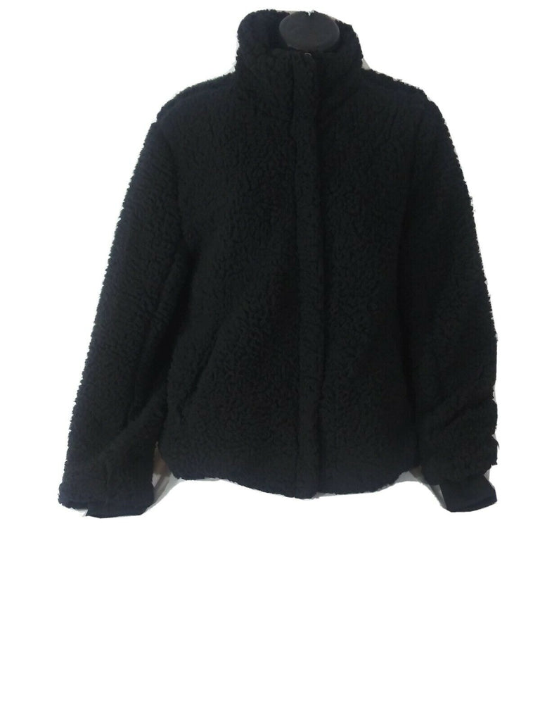 Thread & Supply Women's Wubby Fleece Full Zip Jacket Size Extra-Small Black