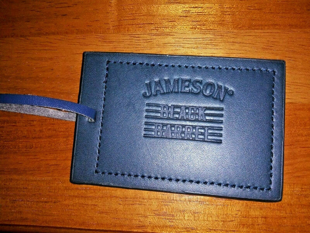 Jameson Black Barrel No Name Luggage Tag Collectible Liquor Travel Accessories