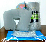 Travel Supplies Comfortable / Throw + Adult XL Socks + Inflatable Neck Pillow