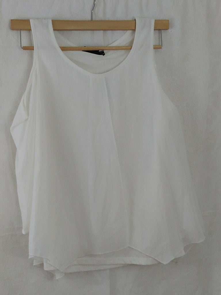 Modern Attraction Women's Cold Shoulder Polyester Top Off-white Small