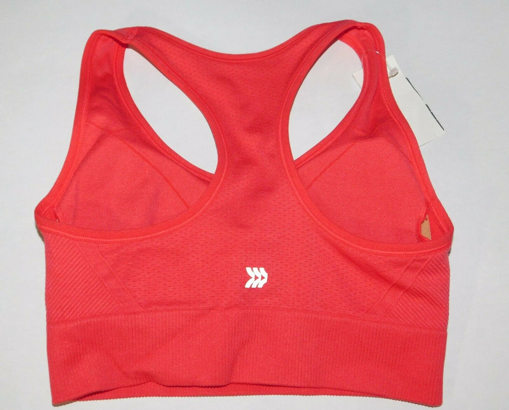 All in Motion Exercise Bra Racer Back Women's  Padded Medium Red MSRP $16