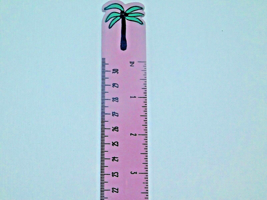 Cute Ice cream Ruler / Message Erasers / 2 Pencils / School Supplies Set of 2