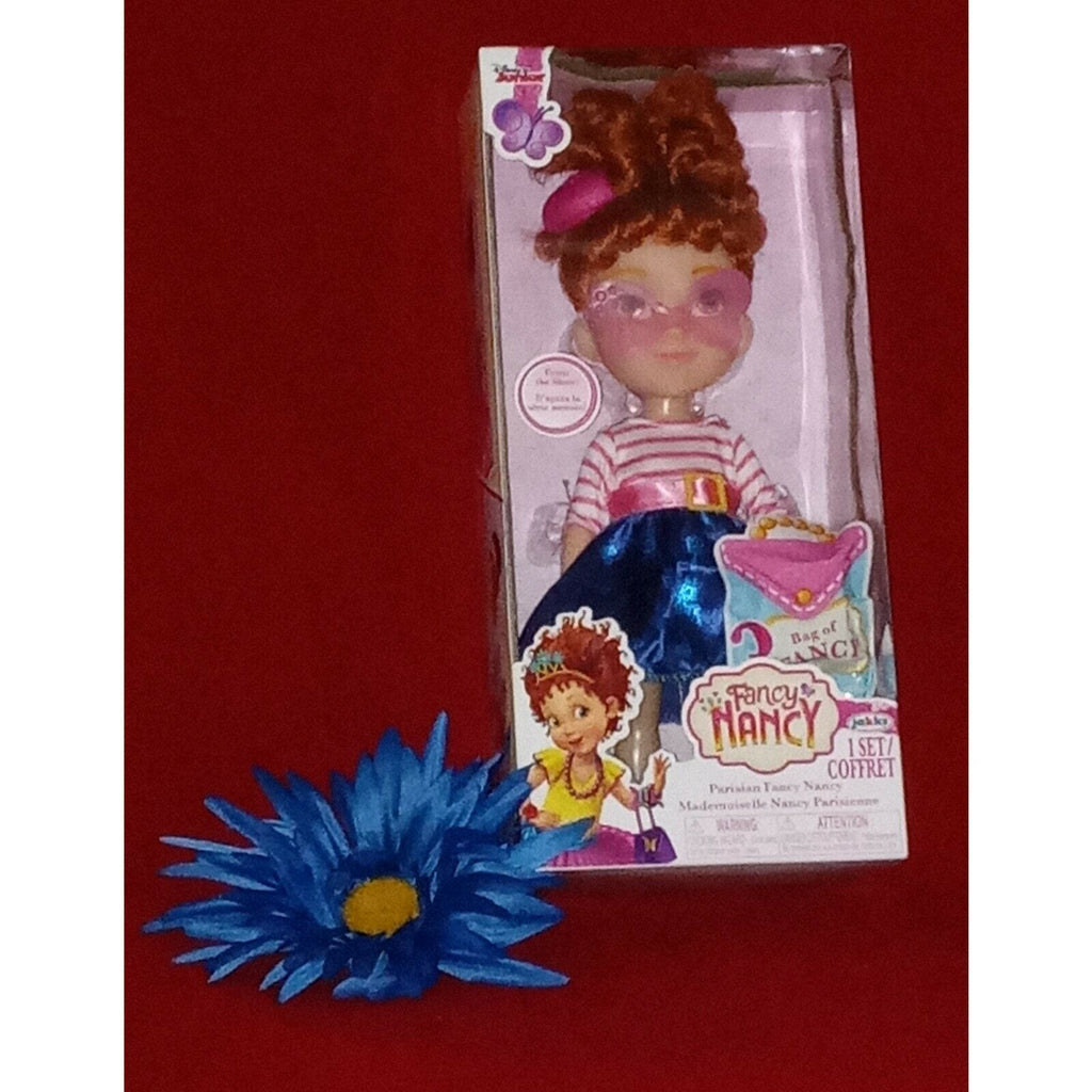Disney Junior Fancy Nancy Parisian Doll 10 Inch Age 3 + Includes Bag of Fancy