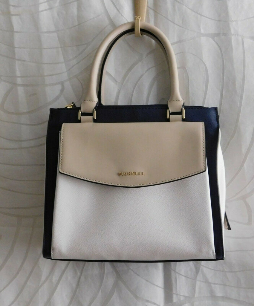 Fiorelli Mia Flat Grain Handbag 3 Tone Crossbody with Removable Strap MSRP $98