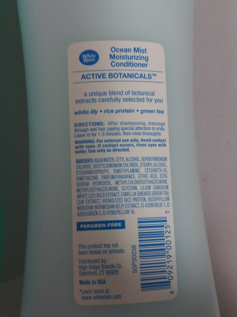 White Rain Moisturizing Ocean Mist Active Botanicals Conditioner & Shampoo 1 Ea - STEPSHEY