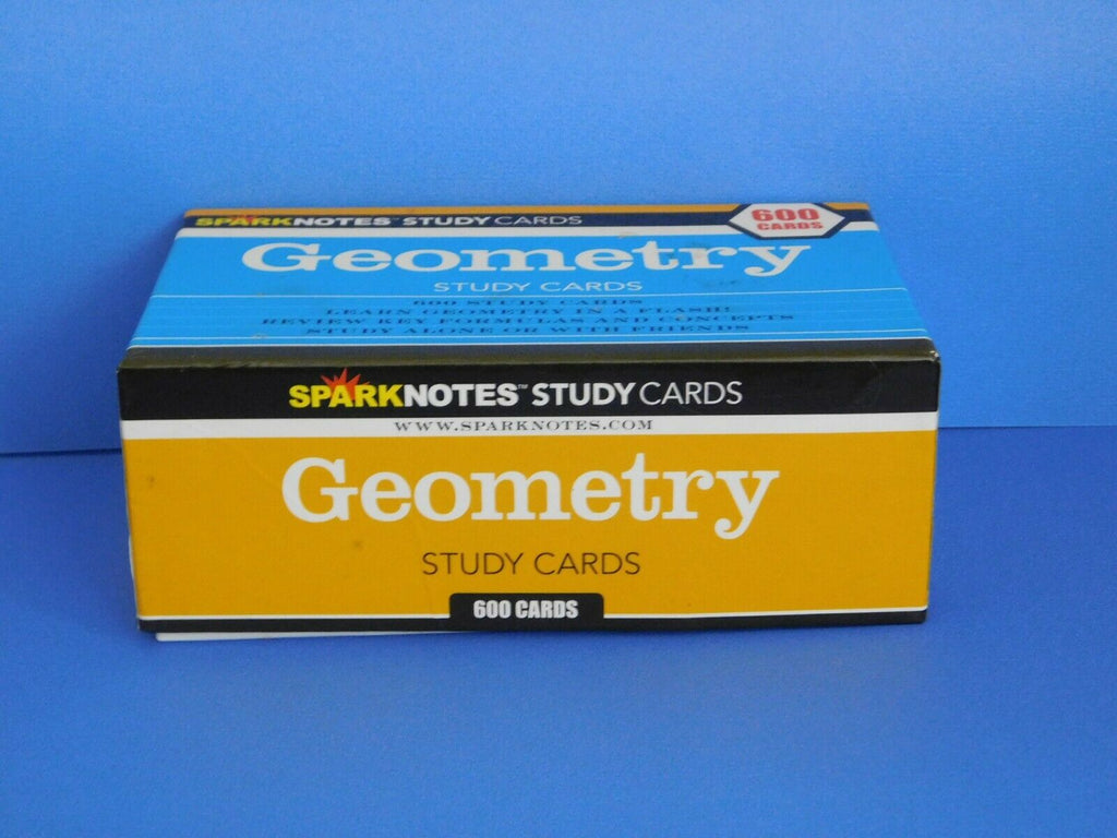 Geometry Sparknotes Study Cards 600 (Definitions, True or False, Questions, Fill