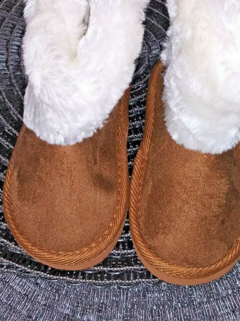 Shoes of Soul Toddler Girls' Fleece Lined Double Bow Boots Tan Size 6