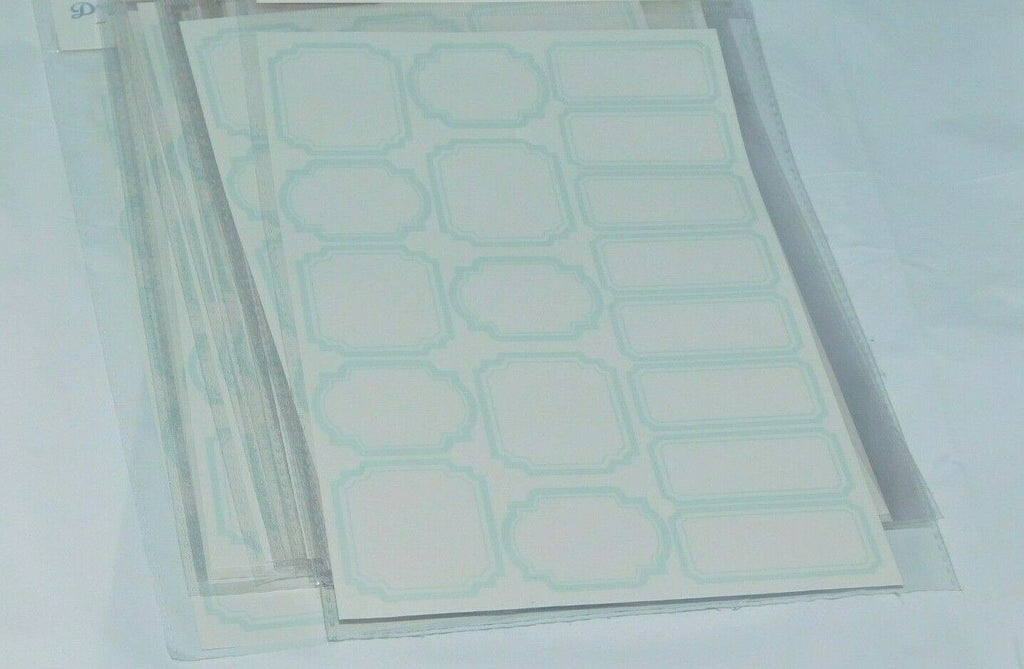 Lot Of 20 Dry Erase Labels Sticker Sheets 18 Stickers per Sheet Sealed New Blue