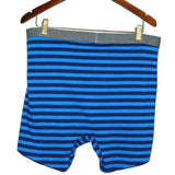 Soft-Washed Built-In Flex Boxer Brief Single Men's XL Blue Stripe/ Big XXL Teal