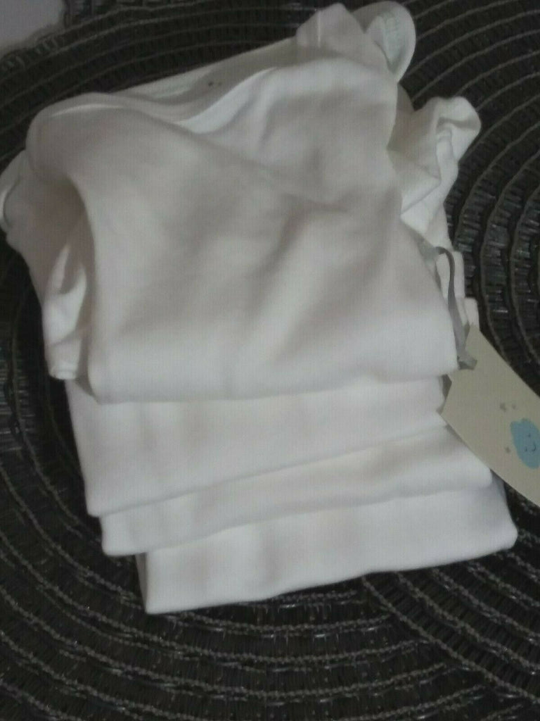Cloud Island Baby Unisex Pack of 4 One Piece Suit 0-3 Months True White