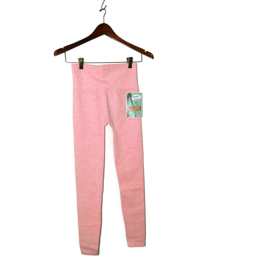 Shosho Women's Marled Slimming Tummy-Control Leggings Size: S/M Pink/Gray/Taupe