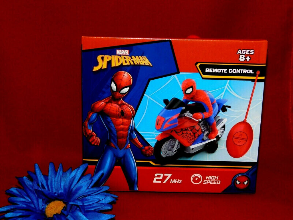 XVB Marvel Remote Control Spider-Man Motorbike 27MHz High Speed Ages 8+