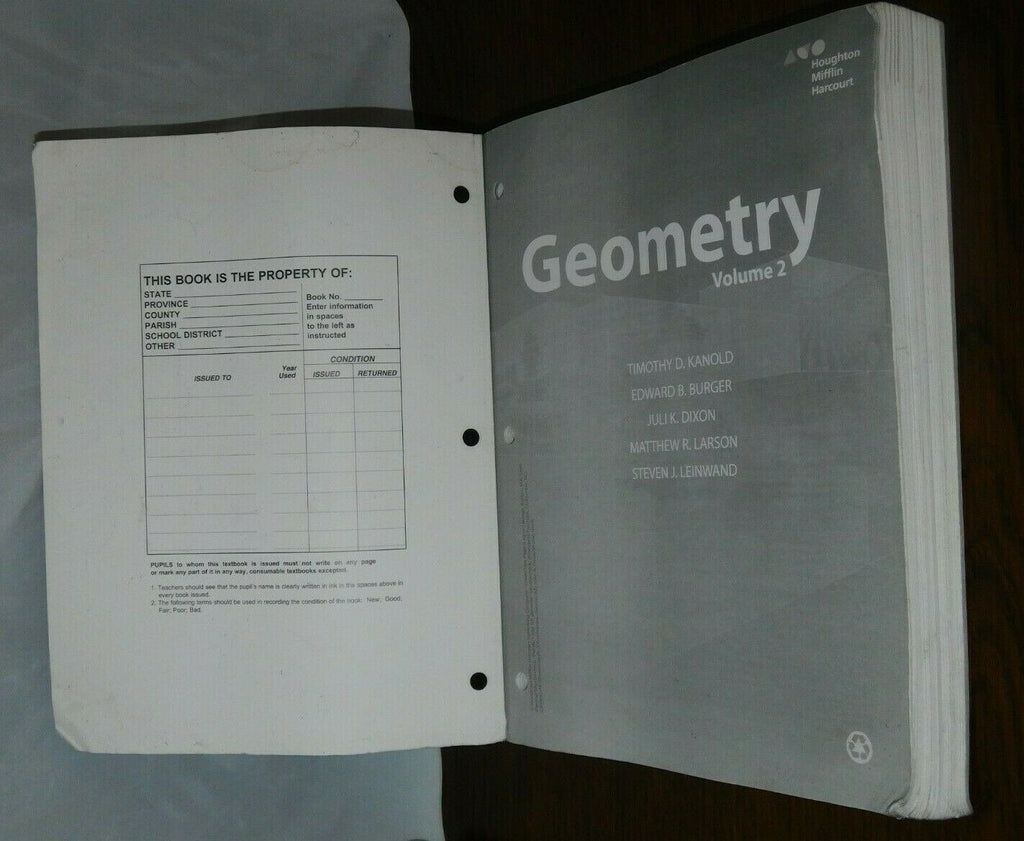 HMH Geometry Ser.: HMH Geometry : Interactive Student Edition Volume 2 2015...