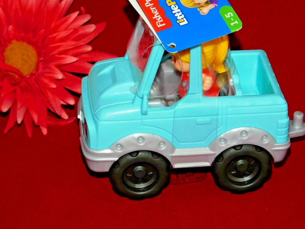 Fisher-Price Little People Help a Friend Pick Up Truck Blue Toy Ages 1-5 Years