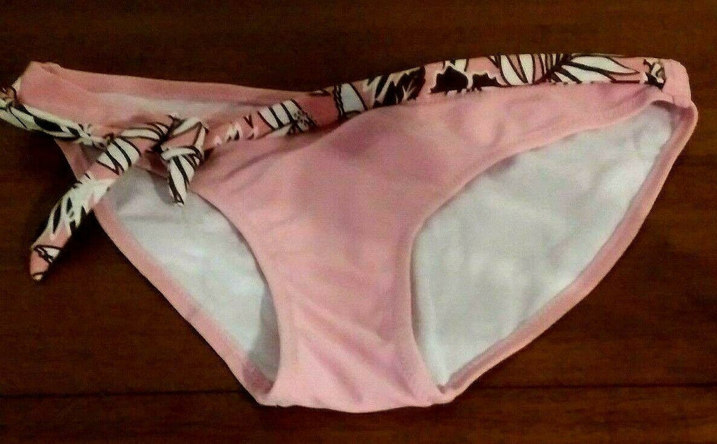 Folia Bikini Pink Bottoms with Foliage Belt Women Swimwear Swimsuit Large