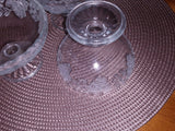 Vintage KIG Indonesia Crimped Rim Dessert/Sherbet Frosted Glass Cups Grapes ...