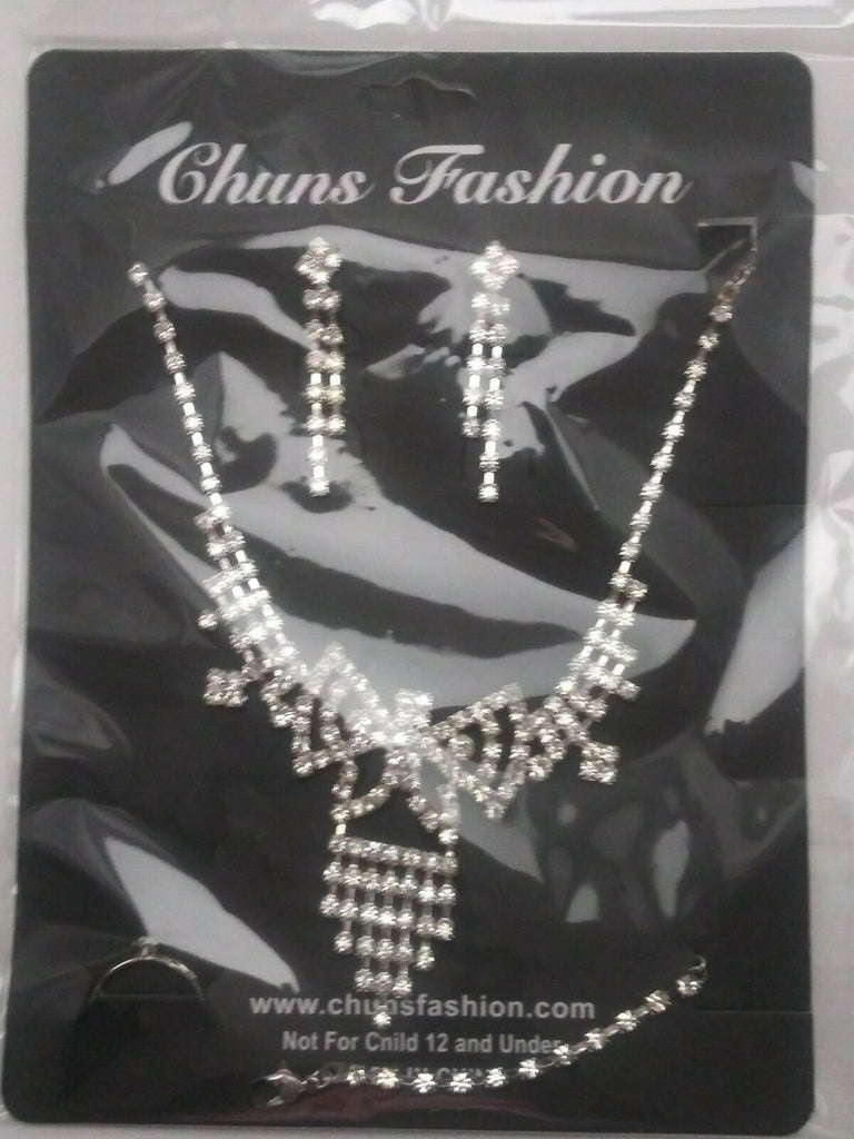 Chuns Fashion Bridal/Special Occasion 4 Piece Jewelry Women (5)