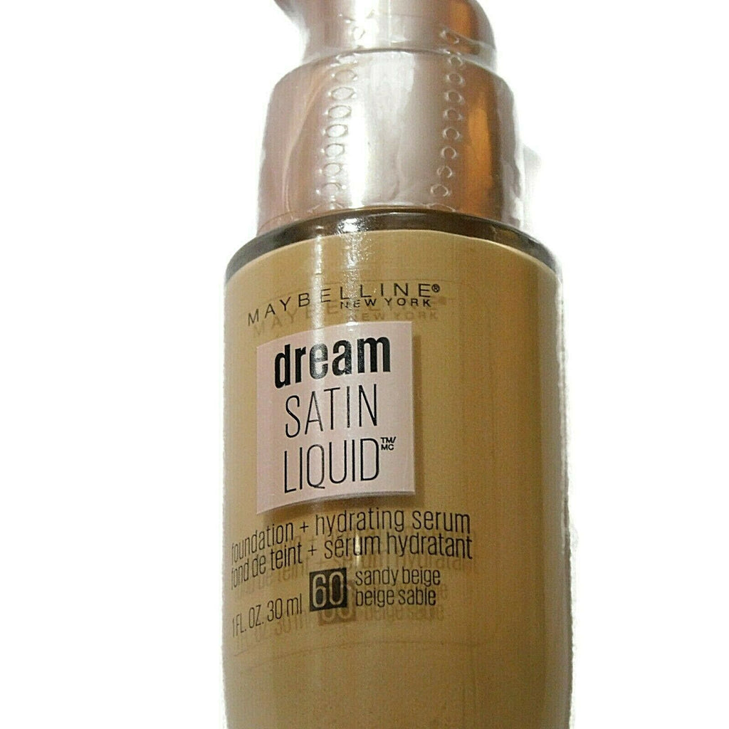 Maybelline New York Dream Satin Liquid + Hydrating Serum 60 Sandy Beige 1 FL Oz