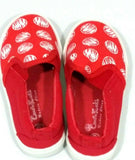 Crown Kicks Kids Girls Slip On Sneakers Red & White Sz 8