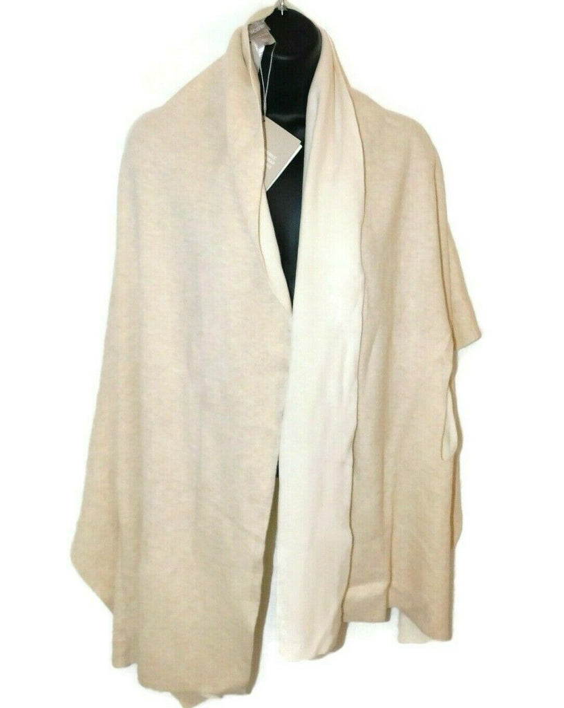 Chico's Nosz Reversible Travel Wrap Beige (ECRU) 1 Piece 4 Ways Solid Coverup